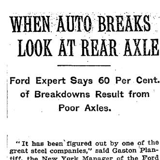 NYT Rear Axel 1912